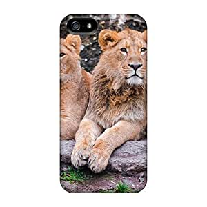 phone covers Case Cover Protector For iPhone 5c Three Lion Lounging Case
