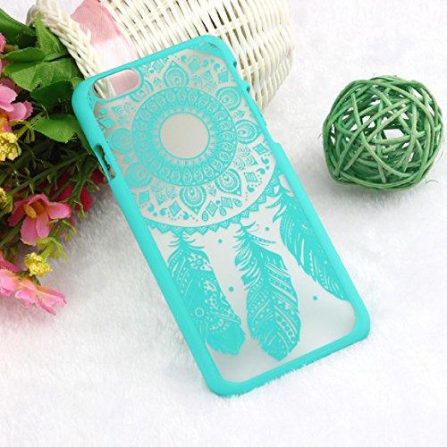 Sannysis Für iPhone 6 4.7 Inch Fall;Geschnitzte Weinlese-Traumfänger Campanula Hard Case (Blau)