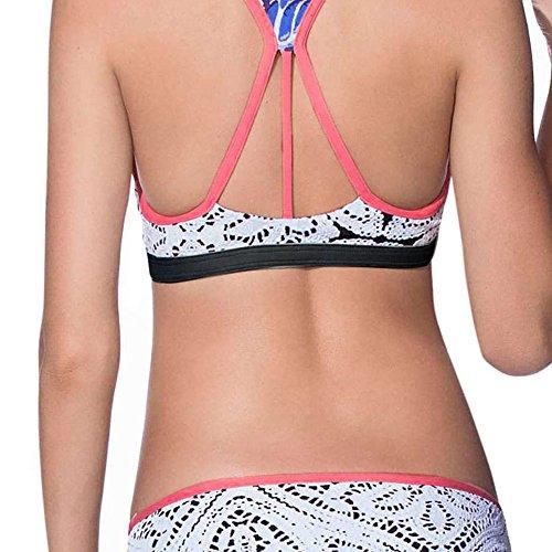 bikini da push Costumi donna alta Set da up Un Bottom Bikini Beachwear bagno Styledresser bagno multicolore2 Pezzo Fit Cinghia Sexy vita Slim da Top vfYntqFfzw