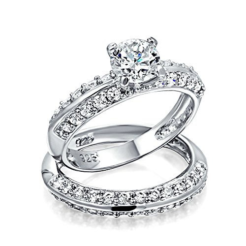 Personalized 2 5ct Cubic Zirconia Round Pave Band Aaa Cz
