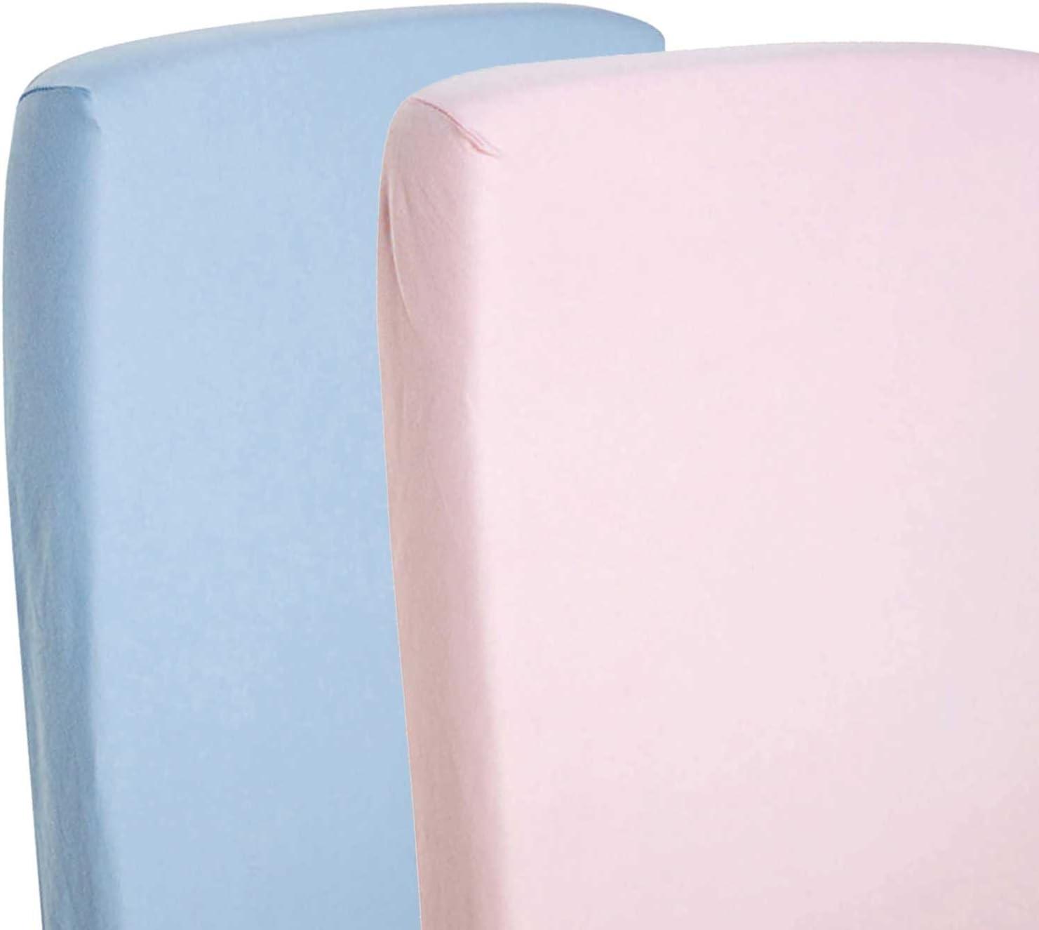 2/x s/ábana bajera ajustable Compatible con SnuzPod/ /Protector de cama para cuna 100/% algod/ón/ /azul//pink-by For-your-Little-One