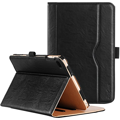 ProCase-iPad-mini-4-Case---Leather-Stand-Folio-Case-Cover-for-2015-Apple-iPad-mini-4-4th-generation-iPad-mini-mini4-with-Multiple-Viewing-angles-auto-SleepWake-Document-Card-Pocket-Black