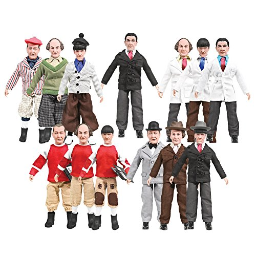 The Three Stooges 8 Inch Action Figures: Set of all 13 Figures (LOOSE)