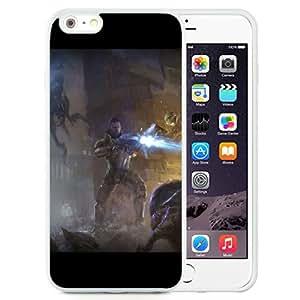 6 Plus TPU case,Mass Effect Shepard Monsters Fire Battle White iPhone 6 Plus TPU cover