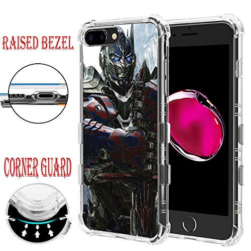 Prime Cover Optimus - for iPhone 8, for iPhone 7, Air Corner Guard Protector Raised Edge Impact TPU Rubber Case Cover - Transformer Optimus Prime #S