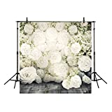 Funnytree 10x10ft Wedding Photography Backdrops Background Pure White Flower Pregnant Woman Wedding Church Photo Studio Booth Prop