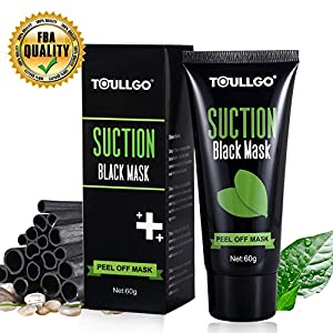 Blackhead Remover Mask, Purifying Peel-off Mask, Blackhead Mask, ToullGo Mask Black Mud Pore Removal Strip Mask For Face Nose Acne Treatment Oil Control …