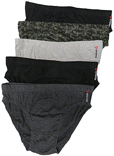 Reebok Mens Low Rise Briefs Pack of 5 Multi, Size Large 36//38