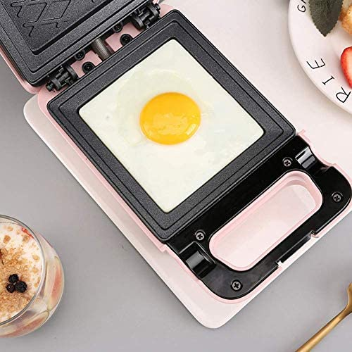 Qinf Bread Making Sandwich Maker Toaster Iron Bread Toast Breakfast Machine Waffle Pancake Baking Frying Pan Gas Non-Stick Double-Sided Heating,Green
