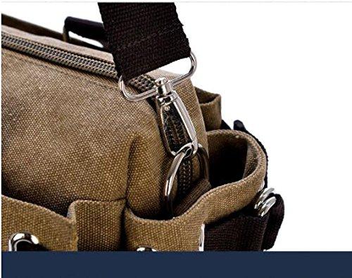Pacchetto Bag Signore Blu Tracolla Nuovo Messenger grigio Bag Borsa Tempo Donna A Nclon Spalla Viaggio Libero Tela Shoulder Grande Borse Le Due 7010wqH