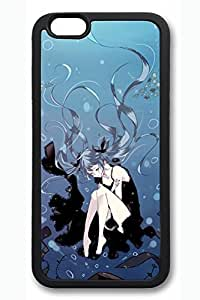 Anime Girl Seabed Cute Hard Cover For iPhone 6 Plus Case ( 5.5 inch ) TPU Black Cases