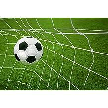 Wallmonkeys Goal Soccer Ball Net Wall Mural Peel and Stick Graphic (30 in W x 20 in H) WM236845