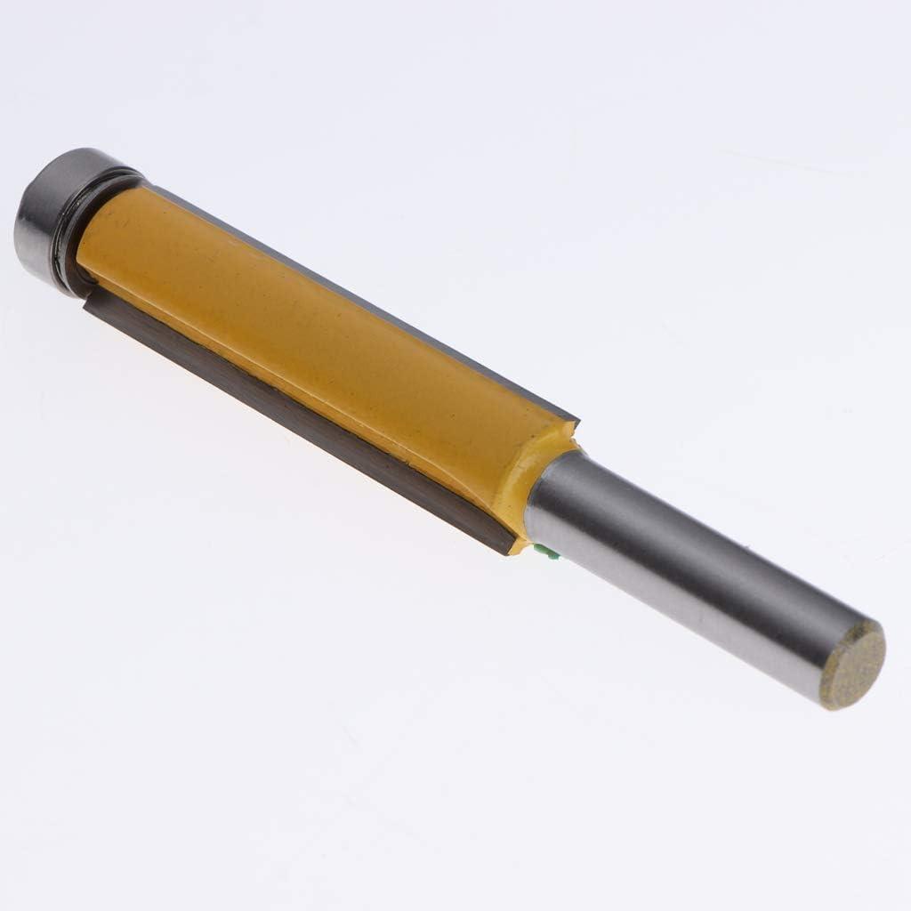 EsportsMJJ 1//4 X 3//8 Pulgada 60Mm Largo Hoja Dos Flautas Recta Fresado bit