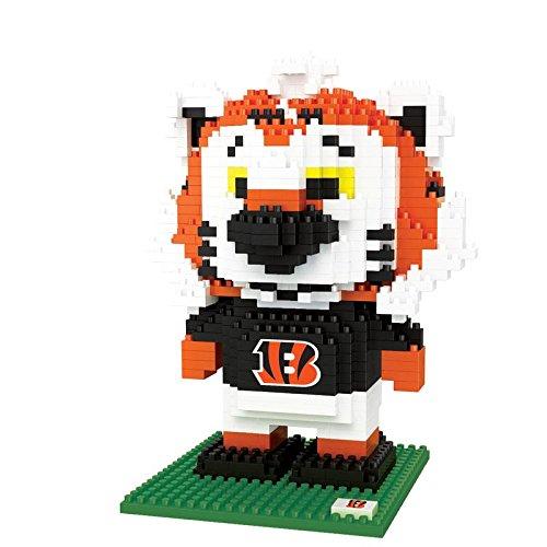 FOCO NFL Cincinnati Bengals BRXLZ 3D Blocks Set - Mascot, Team Color, One Size
