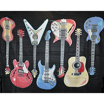 Guitar Fleece Throw Blanket 50'x60'