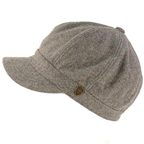 Winter Fall Wool Blend 8 Panel Oversize Newsboy Paperboy Cap Hat (Oversized Wool Cap)