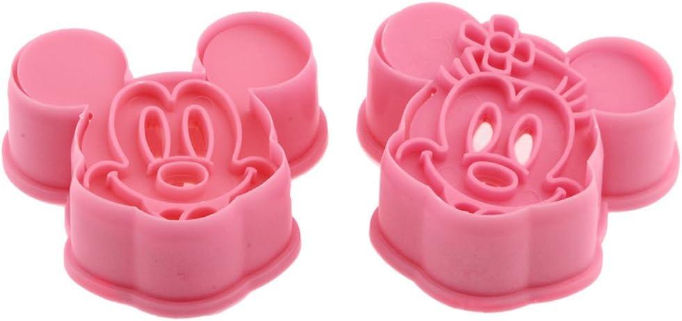 Silber DeColorDulce Mickey Minnie Mouse Keksausstecher und Kugelablage Keks ABS