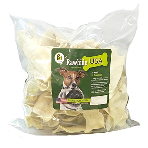 Pet Magasin Natural Rawhide Chips – Premium Long-Lasting Dog Treats with Thick Cut Beef Hides, Processed Without Additives Or Chemicals