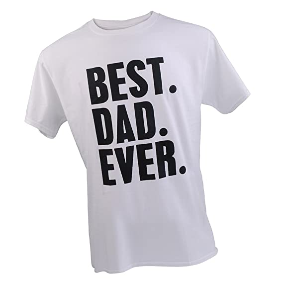 c361344c C2K Best Dad Ever Letter Printed T-shirt Saying Slogan Tee Fathers Day  Birthday Cosplay Party Gift White XXL: Amazon.in: Clothing & Accessories