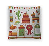 Gear New Zippered Mexican Party Square Pillow