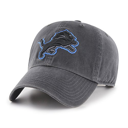 NFL Detroit Lions Male OTS Challenger Adjustable Hat, Dark Charcoal, One Size