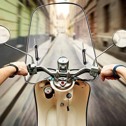 Liery Universal Spoiler Motorrad Windschutzscheibe Zubehör Windschild Spoiler Aufsatz Windschutzscheibe Verlänger Klar Seitenwindabweiser Für Motorrad Küche Haushalt