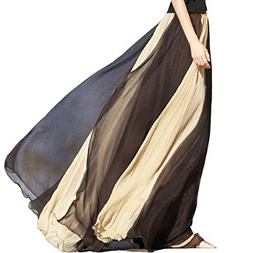 TopTie Full Circle Skirt Flowing Maxi Skirts Best Chiffon Skirt (Chiffon Circle Skirt)