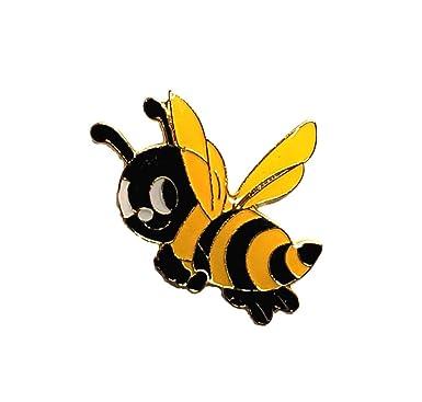 db72fe730e1 Amazon.com  Lot of 12 Cute Happy Bee Hat Lapel Pins  Clothing