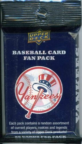 2008 Upper Deck Yankees 25 Card Factory Sealed Fan Pack ! Includes assortment of Current players and Legends including Derek Jeter,Babe Ruth,Joe Dimaggio,Loug Gehrig and Many More!