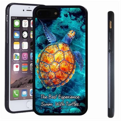 iphone 7 8 Plus case, SoloShow(R) Slim Shockproof TPU Soft Case Rubber Silicone for Apple iphone 7 8 Plus [Golden turtle] (Simple Halloween Face Paint For Guys)