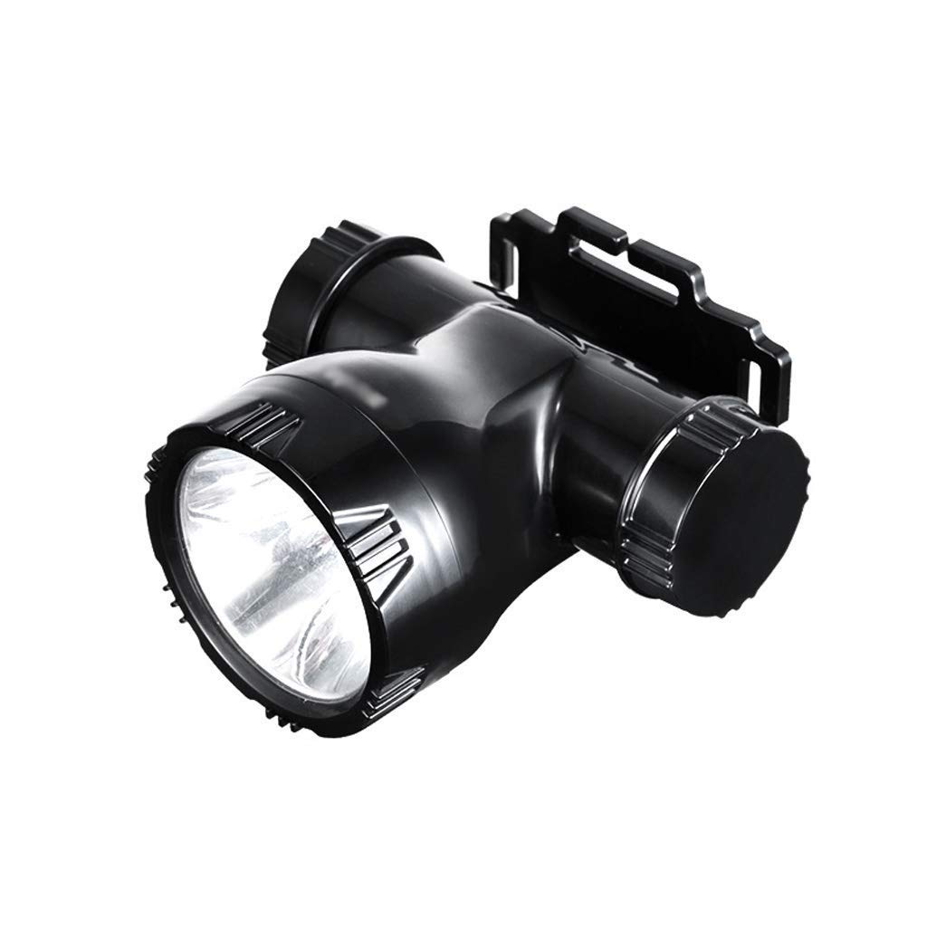 QAZWS Super Bright Headlamp Rechargeable LED Spotlight with Battery Powered Headlight for Camping Fishing (Large)