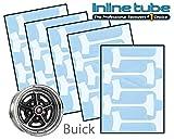 1964-84 Buick Gran Sport GS GSX 14 & 15 Rally Wheel Paint Mask Stencil Kit Set (File-1-2)