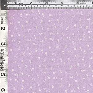 Textile Creations CALI-424 Calico New Arrivals 3, Small Flower & Paisl Lavender & Ivory