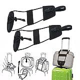 SMYTShop Bag Bungee,Travel Luggage Suitcase Adjustable Belt Add A Bag Strap Carry On Bungee Travel(2 Packs)
