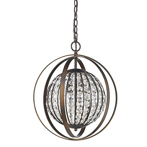 Acclaim Lighting IN11096ORB Olivia Indoor 1-Light Pendant with Crystal, Oil Rubbed ()