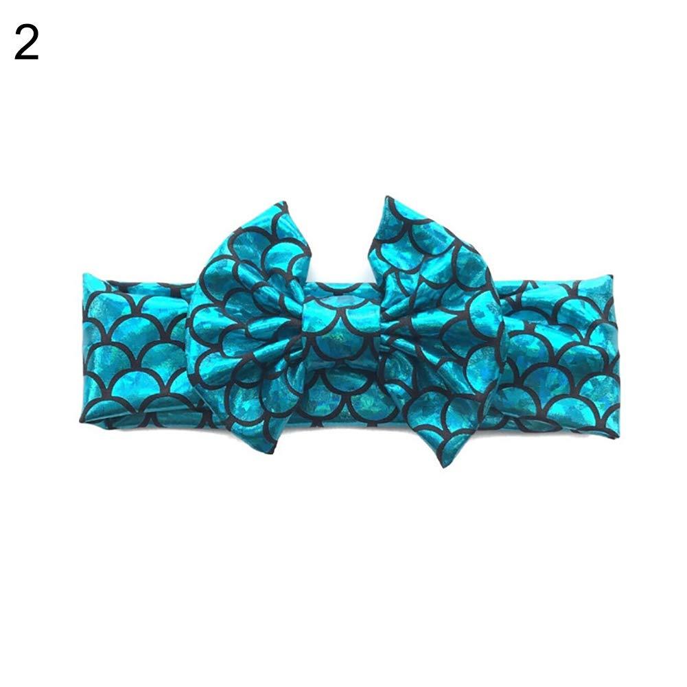 Fashion Headband,Mermaid Fish Scales,Headwear Bandana For Girls