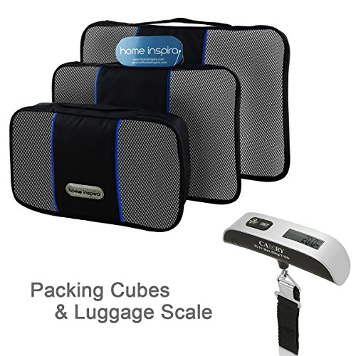 Camry Digital Luggage Scale #1 Best Seller with Travel Packing Cube Organizer 3pcs Travel Set