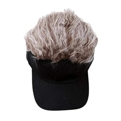 349c0be8 TanQiang Adjustable Baseball Hat Toupee Wig Hat Funny Golf Caps Novelty Baseball  Cap for Women and