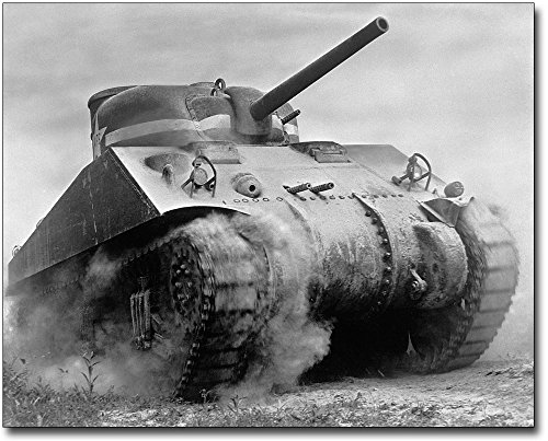 Sherman M4 Medium Tank WWII 8x10 Silver Halide Photo Print by The McMahan Photo Art Gallery & Archive