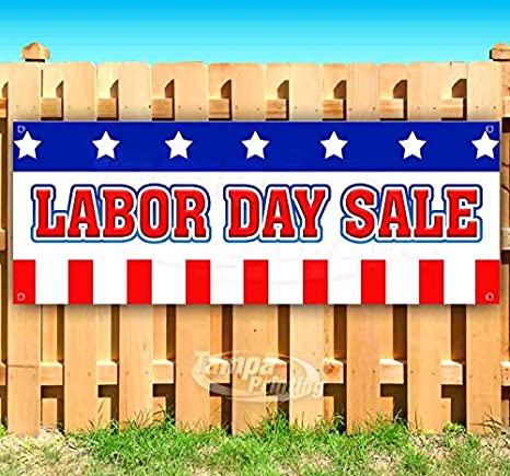 Amazon Com Labor Day Sale 13 Oz Heavy Duty Vinyl Banner Sign With