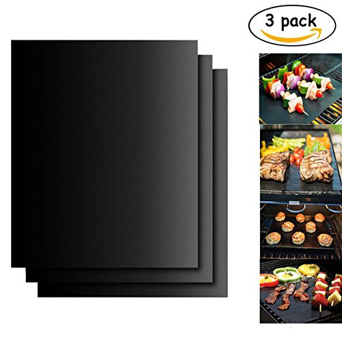 Great Features Of safova Nonstick BBQ Grill Mat, Barbeque Grill Mat Perfect for Charcoal, Electric a...