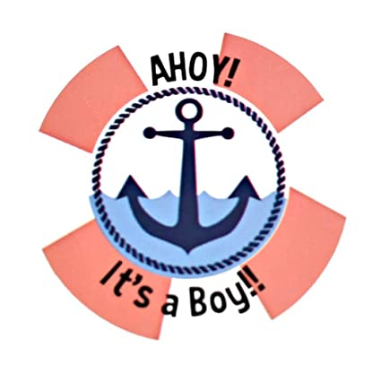 Amazon Com Mikie S Craft Inc Baby Shower Stickers It S A Boy Girl