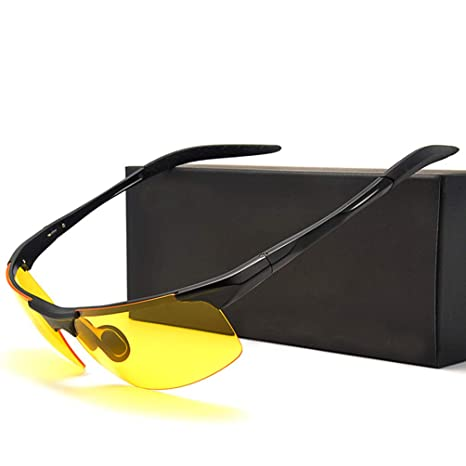 SKJIND Gafas de sol UV para conducción nocturna: Amazon.es ...
