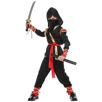 LOLANTA Disfraz de Guerrero Ninja para niños Disfraz de ...