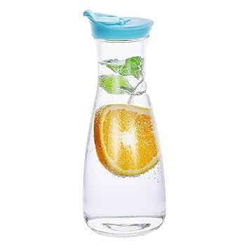 Amazon.de: ed-lumos 2 Farben Glas Wasser Karaffe Krug für Ice Tee ...