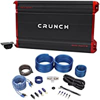 Package: Crunch PZX1500.1 1500 Watt Mono Class AB Car Audio Amplifier Rockville + RWK41 4 Gauge 2 Channel Complete Wire Kit With RCA Cables