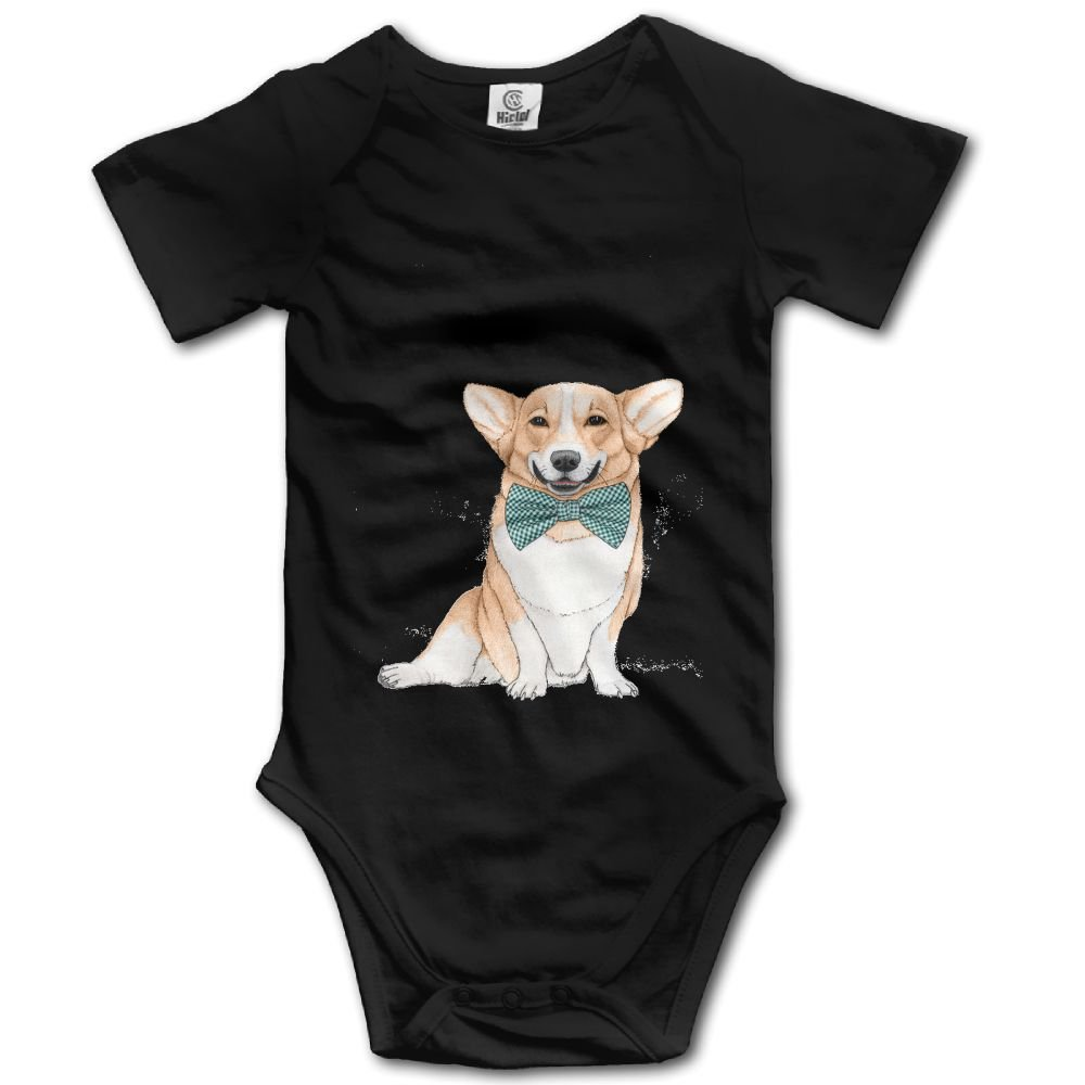 Rainbowhug Corgi Dog Unisex Baby Onesie Lovely Newborn Clothes Concise Baby Outfits Comfortable Baby Clothes
