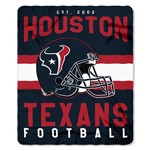 (The Northwest Company NFL Houston Texans Singular Fleece Throw, 50-inch by 60-inch, Blue )