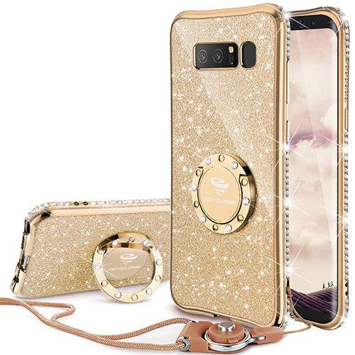 ef3a18bc6368 OCYCLONE Galaxy Note 8 Case, Glitter Cute Phone Case for Women Girls with  Kickstand,