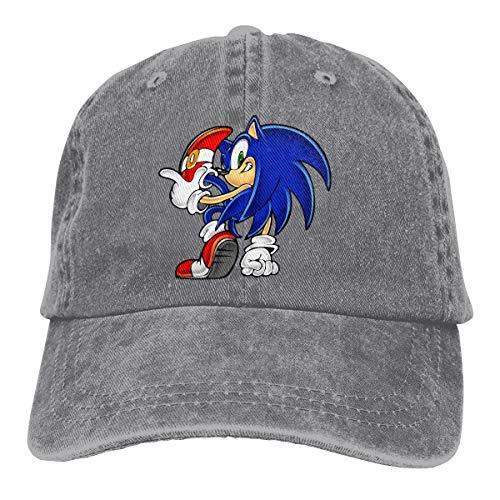 Jeans Hat Sonic Hedgehog Baseball Cap Sports Cap Adult Trucker Hat Mesh Cap Gray ()